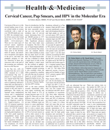 Cervical Cancer, Pap Smears, and HPV in the Molecular Era